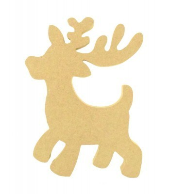 18mm Freestanding MDF Rudolph Reindeer Shape with no wreath - 200mm Size