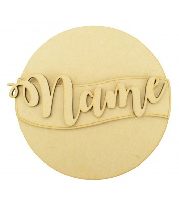 Laser Cut Personalised 3D Circle Plaque - No Shapes