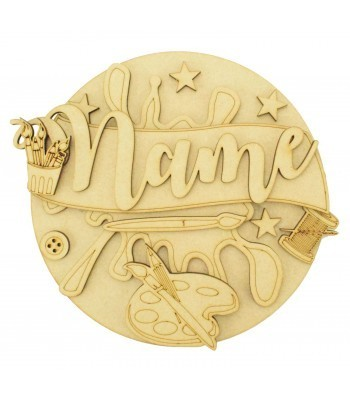 Laser Cut Personalised 3D Detailed Layered Circle Plaque - Craft Themed
