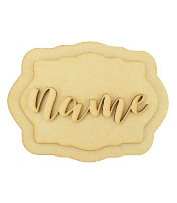 Laser Cut Personalised 3D Layered Rectangle Plaque - No Shapes