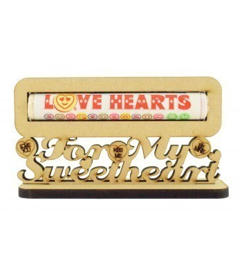 6mm 'Love hearts for my Sweetheart' Love Hearts Sweets Holder on a Stand