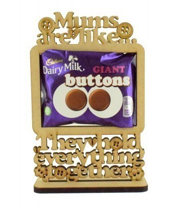 6mm 'Mums are like buttons. They hold everything together' Cadbury Giant Chocolate Buttons Holder on a Stand