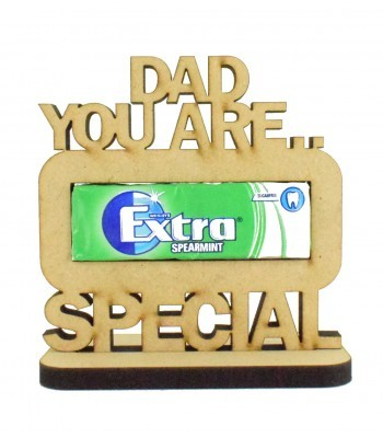 6mm 'Dad You Are Extra Special' Chewing Gum Holder on a Stand