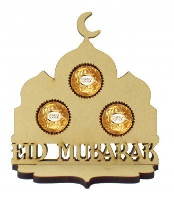 6mm 'Eid Mubarak' Temple Ferrero Rocher Holder on a Stand