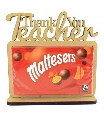 6mm 'Thank You Teacher' Maltesers Box of Chocolates Holder on a Stand