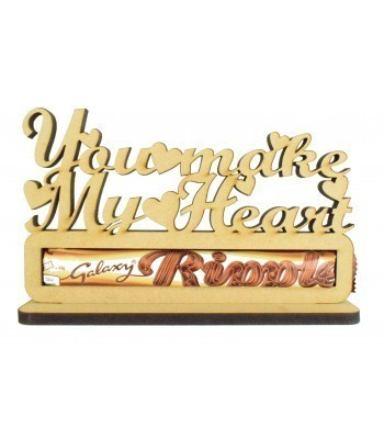 6mm 'You make my heart ripple' Ripple Chocolate Bar Holder on a Stand