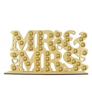 6mm Mr & Mrs Large Ferrero Rocher Confectionery Holder