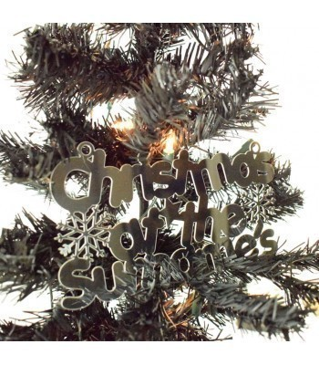 Laser Cut Mirrored Acrylic Personalised 'Christmas At The...' Sign with Snowflakes and Stars