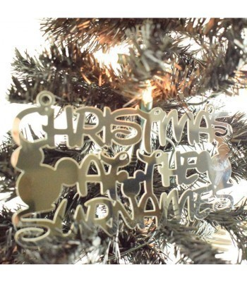 Laser Cut Mirrored Acrylic Personalised 'Christmas At The...' Sign with Mouse Heads