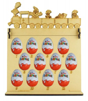 6mm Kinder Eggs Holder 12 Days of Christmas Advent Calendar with Christmas Train Topper
