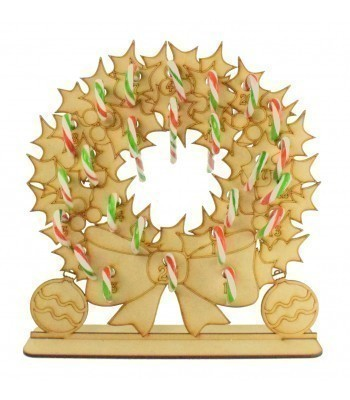 3mm Christmas Wreath Candy Cane Holder Advent Calendar