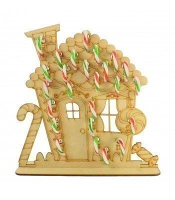 3mm Gingerbread House Candy Cane Holder Advent Calendar