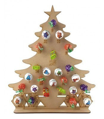 3mm Christmas Tree Lolly Pop Holder Advent Calendar