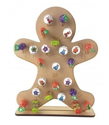 3mm Gingerbread Lolly Pop Holder Advent Calendar