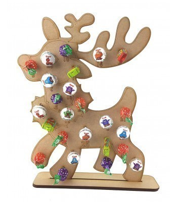 3mm Reindeer Lolly Pop Holder Advent Calendar