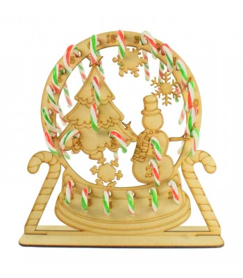 3mm Snow globe Candy Cane Holder Advent Calendar