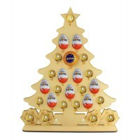 6mm Christmas Tree Chocolate Orange, Ferrero Rocher & Kinder Egg Holder Advent Calendar on a Stand