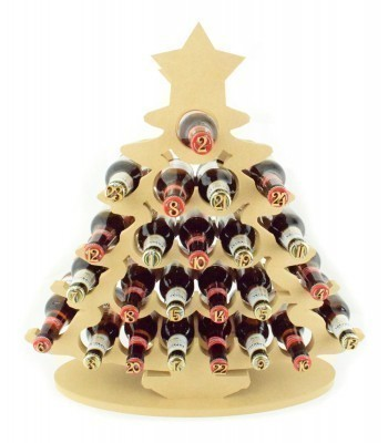 Super sized 18mm Freestanding Christmas Tree Beer Holder Advent Calendar
