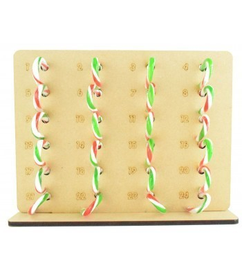 6mm Candy Canes Sweets Holder Advent Calendar