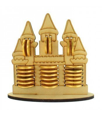 6mm Princess Castle Chocolate Coin Holder Advent Calendar