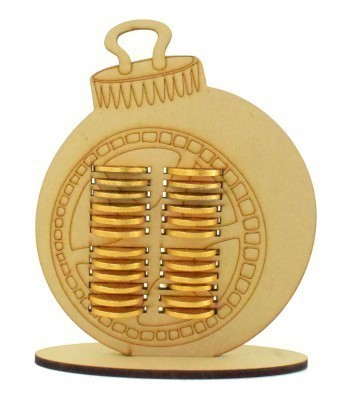 6mm Bauble Chocolate Coin Holder Advent Calendar