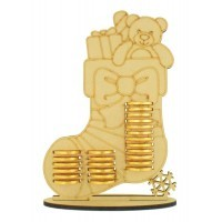 6mm Christmas Stocking Chocolate Coin Holder Advent Calendar
