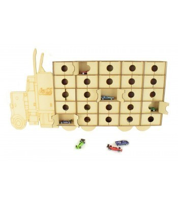 Laser Cut Super Sized Lorry Christmas Advent Calendar with Doors