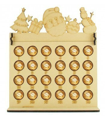 6mm Ferrero Rocher & Lindt Chocolate Balls Holder Advent Calendar with Christmas Shapes Topper