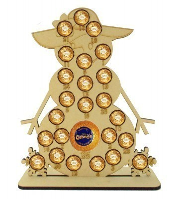 6mm Basic Snowlady Chocolate Orange and Ferrero Rocher Holder Advent Calendar