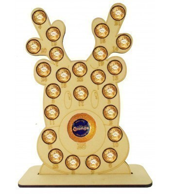 6mm Basic Reindeer Head Chocolate Orange and Ferrero Rocher Holder Advent Calendar