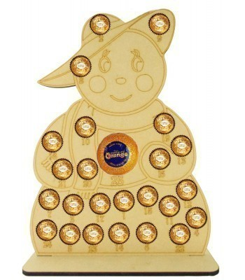 6mm Detailed Snowlady Chocolate Orange and Ferrero Rocher Holder Advent Calendar