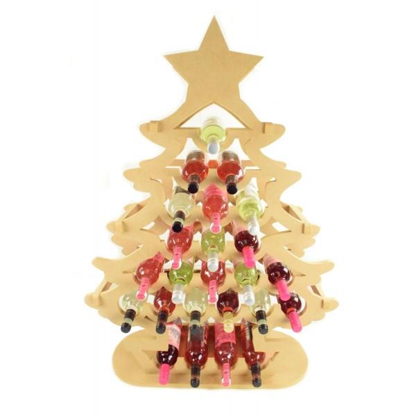 Wine Bottle Christmas Tree Rack.Giant Sized 18mm Freestanding Christmas Tree Wine Holder Advent Calendar To Fit Standard 750ml Wine Bottles