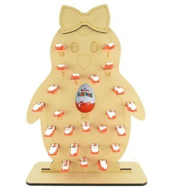 6mm Kinder Chocolate Bars & Kinder Egg Holder Advent Calendar - Girl Penguin