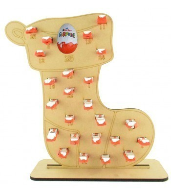 6mm Kinder Chocolate Bars & Kinder Egg Holder Advent Calendar - Stocking