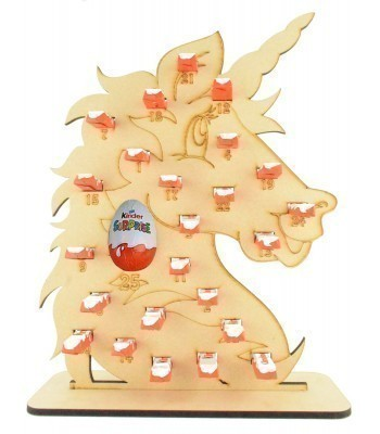 6mm Kinder Chocolate Bars & Kinder Egg Holder Advent Calendar - Unicorn