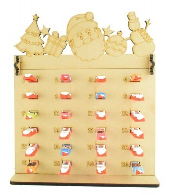 6mm Kinder Chocolate Bars Holder Advent Calendar with Christmas Shapes Topper