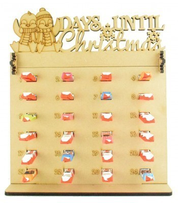6mm Kinder Chocolate Bars Holder Advent Calendar with 'Days Until Christmas' Penguins Topper