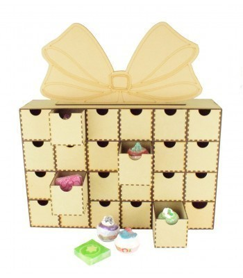 Laser Cut Super Sized Bath Bomb Christmas Present Advent Calendar with Draws