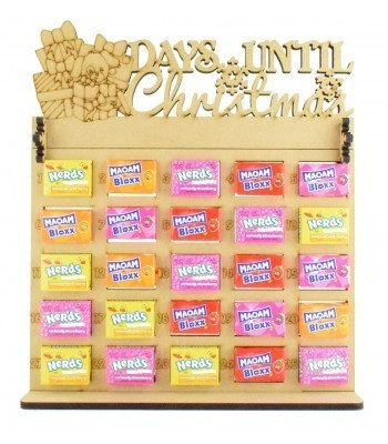 6mm Maoam Bloxx & Nerds Candy Sweets Holder Advent Calendar with 'Days Until Christmas' Presents & Dog Topper