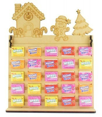 6mm Maoam Bloxx & Nerds Candy Sweets Holder Advent Calendar with Gingerbread House Topper