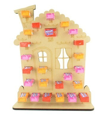 6mm Maoam Bloxx Sweets Holder Advent Calendar - Gingerbread House