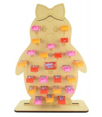 6mm Maoam Bloxx Sweets Holder Advent Calendar - Girl Penguin