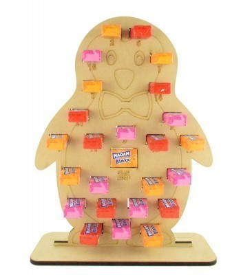 6mm Maoam Bloxx Sweets Holder Advent Calendar - Boy Penguin