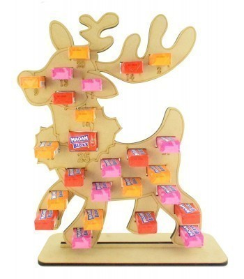 6mm Maoam Bloxx Sweets Holder Advent Calendar - Reindeer