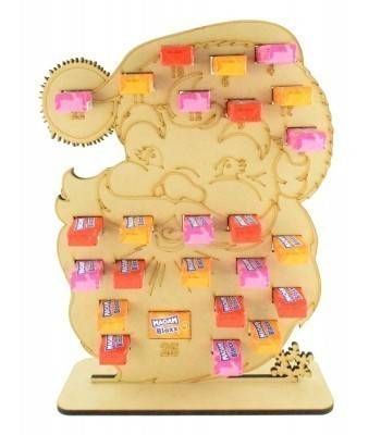 6mm Maoam Bloxx Sweets Holder Advent Calendar - Santa Head