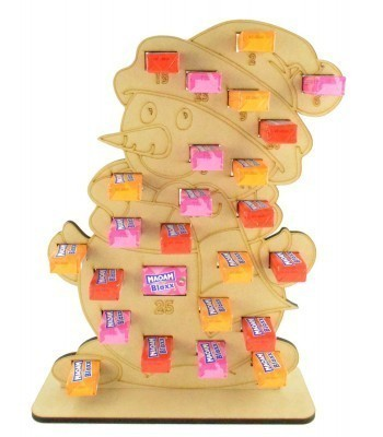 6mm Maoam Bloxx Sweets Holder Advent Calendar - Snowman