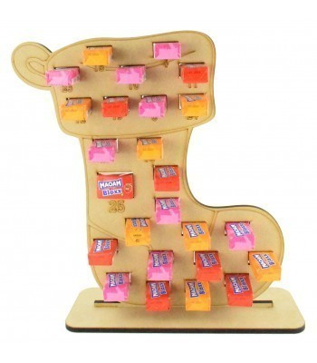 6mm Maoam Bloxx Sweets Holder Advent Calendar - Stocking