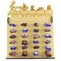 6mm Mars, Snickers and Milkyway Chocolate Bars Funsize Minis Holder Advent Calendar with Christmas Train Topper