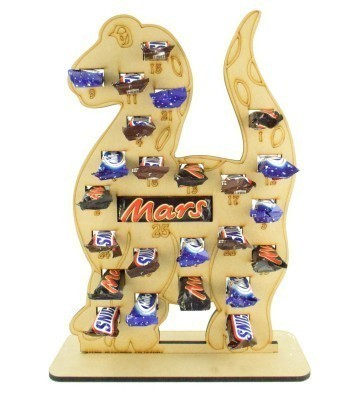 6mm Mars, Snickers and Milkyway Chocolate Bars Funsize Minis Holder Advent Calendar - Dinosaur