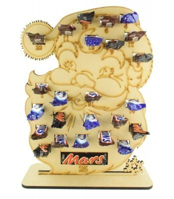 6mm Mars, Snickers and Milkyway Chocolate Bars Funsize Minis Holder Advent Calendar - Santa Head